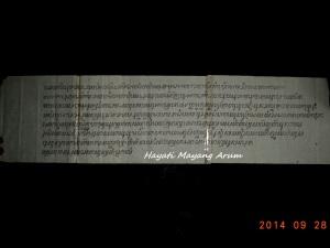 Salinan naskah sebelumnya (Yang terbuat dari tembaga) dan Sudah di translitasi.